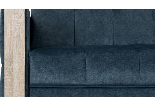 Диван тканевый прямой Валенсия-2 синий (Велюр) - фото 6