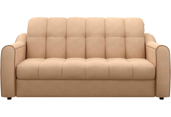 Диван тканевый прямой Флэтфорд-2 140 см бежевый/коричневый (Рогожка) - фото 2