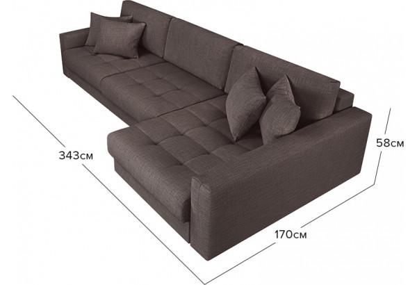 Модульный диван Брайтон вариант №3 графитовый (Рогожка) - фото 2