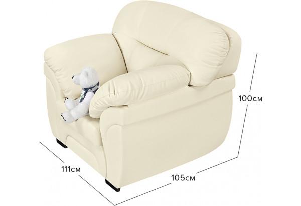 Кресло тканевое Бристоль молочный (Экокожа) - фото 2