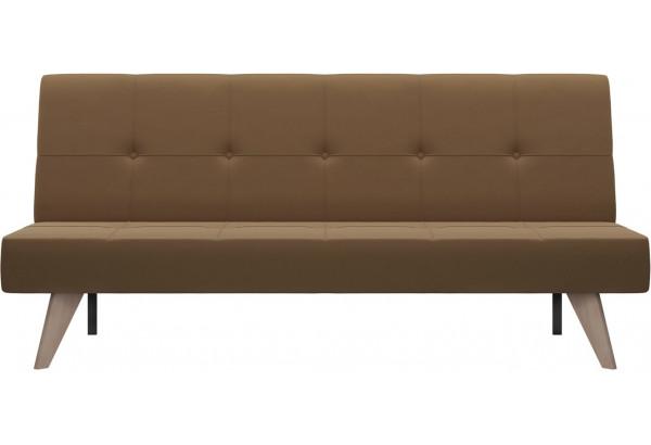 Диван тканевый прямой Касабланка коричневый (Рогожка) - фото 2