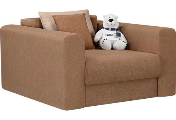 Кресло тканевое Медисон Вариант №2 80 см коричневый (Рогожка) - фото 1