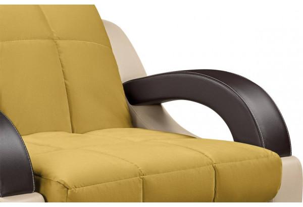 Кресло тканевое Мадрид оливковый (Велюр + Экокожа) - фото 6