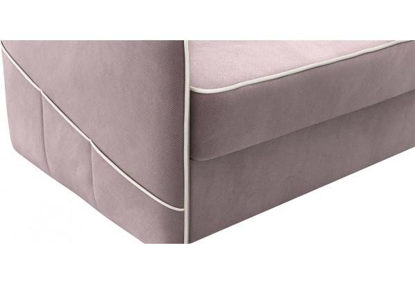 Диван тканевый угловой Слим светло-розовый (Велюр, правый) - фото 7