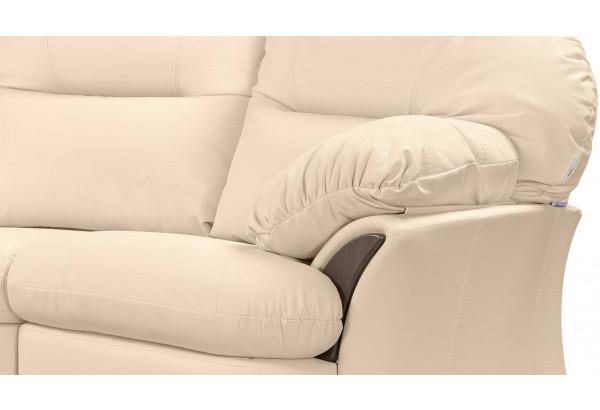 Диван кожаный угловой Ланкастер Бежевый (Кожаное изделие, правый) - фото 7