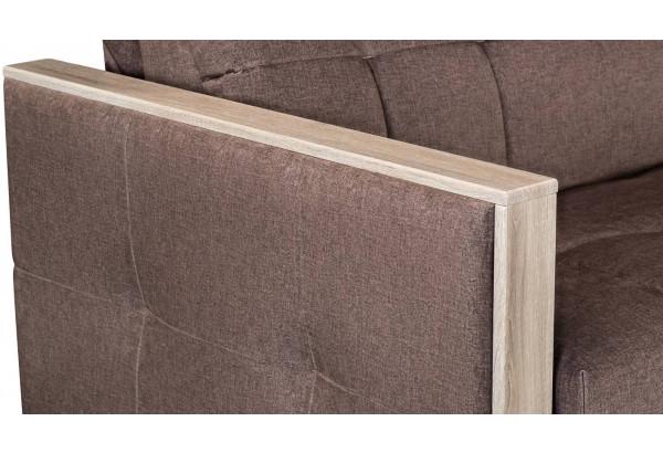 Диван тканевый прямой Валенсия-2 светло-коричневый (Велюр) - фото 10