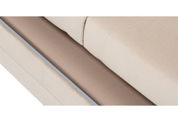 Диван тканевый угловой Бристоль бежевый (Велюр, правый) - фото 9