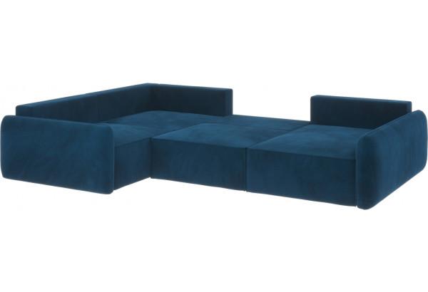 Диван тканевый угловой Портленд вариант №8 Светло-синий (Микровелюр, Левый) - фото 3