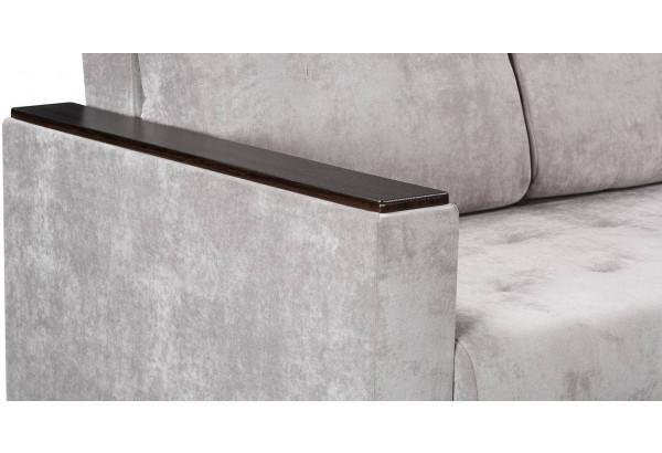 Диван тканевый прямой Атланта Люкс светло-серый (Велюр) - фото 10