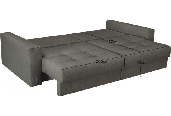 Модульный диван Брайтон вариант №1 серый (Рогожка) - фото 3