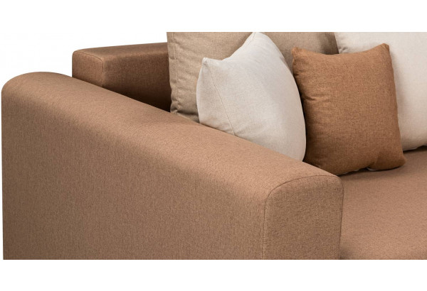 Диван тканевый угловой Медисон Вариант №3 коричневый (Рогожка) - фото 8