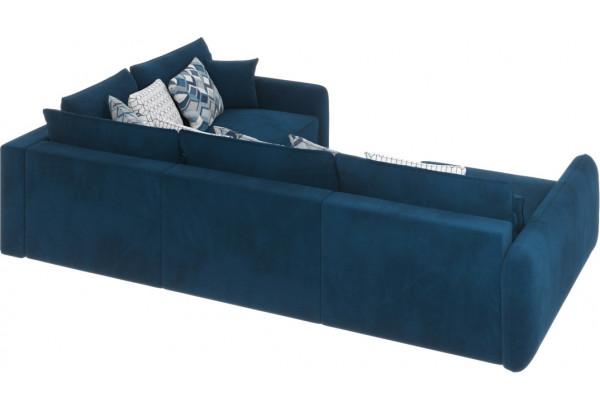 Диван тканевый угловой Портленд вариант №8 светло-синий (Микровелюр, правый) - фото 5