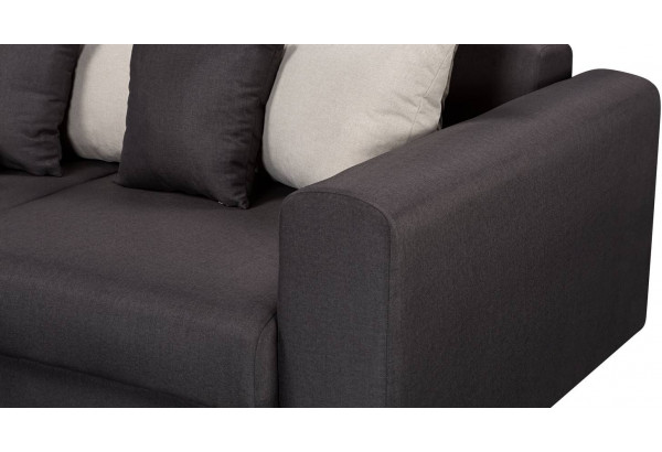Диван тканевый угловой Медисон Вариант №3 тёмно-серый (Рогожка) - фото 10