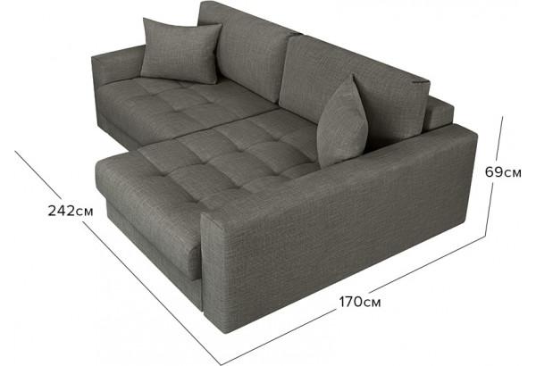 Модульный диван Брайтон вариант №2 серый (Рогожка) - фото 2