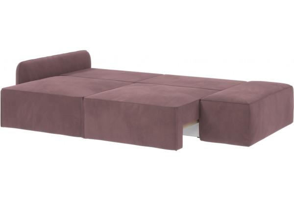 Диван тканевый прямой Портленд вариант №2 розово-серый (Велюр, левый) - фото 3