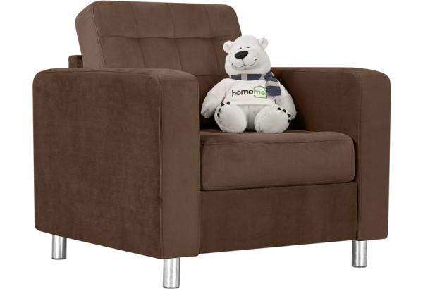 Кресло тканевое Камелот темно-коричневый (Велюр) - фото 1