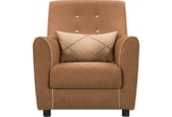 Кресло тканевое Флэтфорд коричневый/бежевый (Рогожка) - фото 3