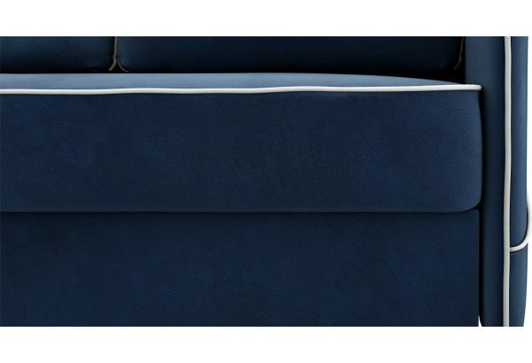 Диван тканевый угловой Слим темно-синий (Велюр, левый) - фото 6