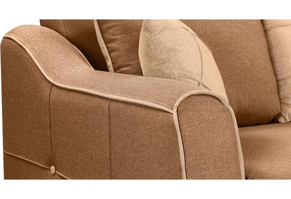 Диван тканевый прямой Флэтфорд коричневый/бежевый (Рогожка) - фото 7