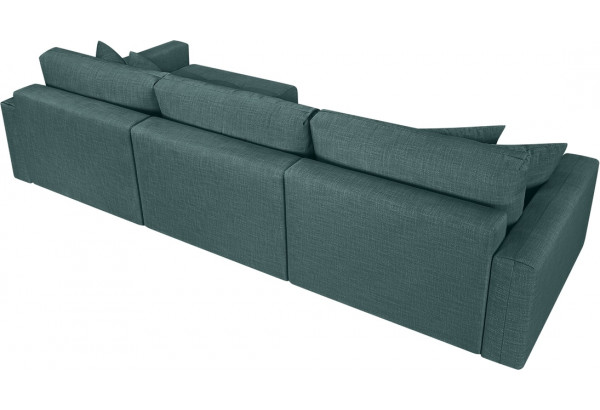 Модульный диван Брайтон вариант №3 голубой (Рогожка) - фото 5