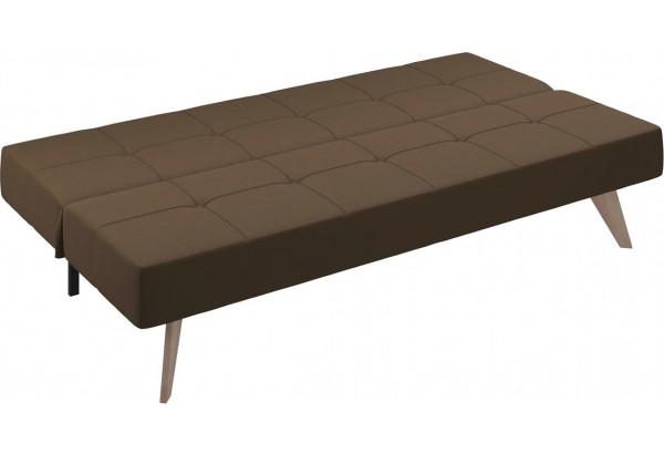 Диван тканевый прямой Касабланка тёмно-коричневый (Рогожка) - фото 6