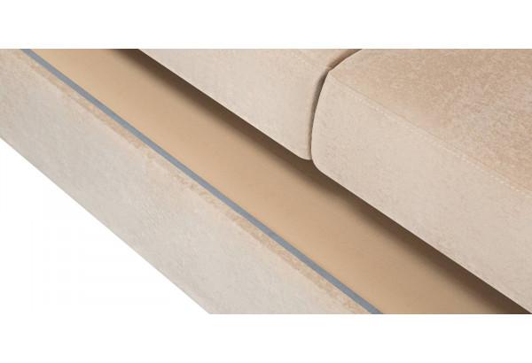 Диван тканевый угловой Эвита бежевый (Флок, левый) - фото 8
