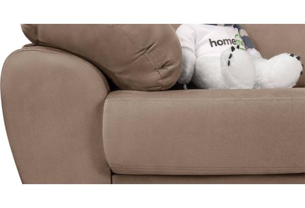 Диван тканевый угловой Эвита коричневый (Велюр, правый) - фото 9