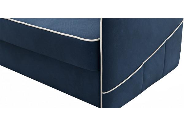 Диван тканевый угловой Слим темно-синий (Велюр, левый) - фото 7