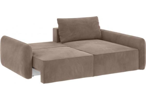 Модульный диван Портленд вариант №4 тёмно-бежевый (Микровелюр, правый) - фото 3