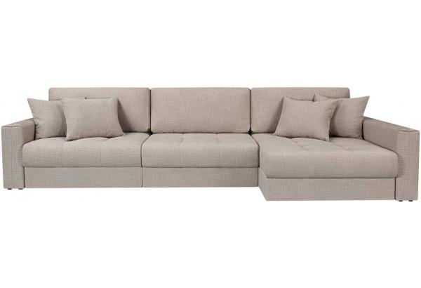 Модульный диван Брайтон вариант №3 бежевый (Рогожка) - фото 4