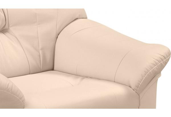Кресло кожаное Женева Бежевый (Кожаное изделие) - фото 4