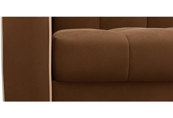 Диван тканевый прямой Флэтфорд-2 140 см темно-коричневый/бежевый (Велюр) - фото 5