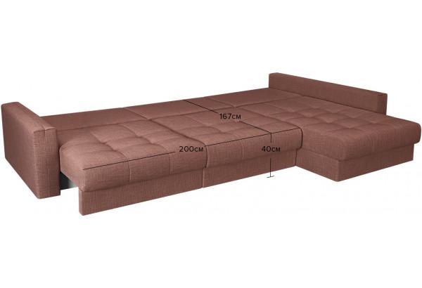 Модульный диван Брайтон вариант №3 розовый (Рогожка) - фото 3