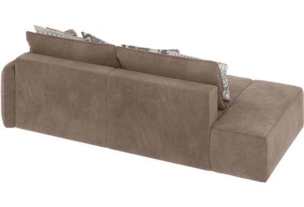 Модульный диван Портленд вариант №2 тёмно-бежевый (Микровелюр) - фото 2