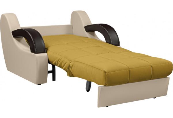 Кресло тканевое Мадрид оливковый (Велюр + Экокожа) - фото 4