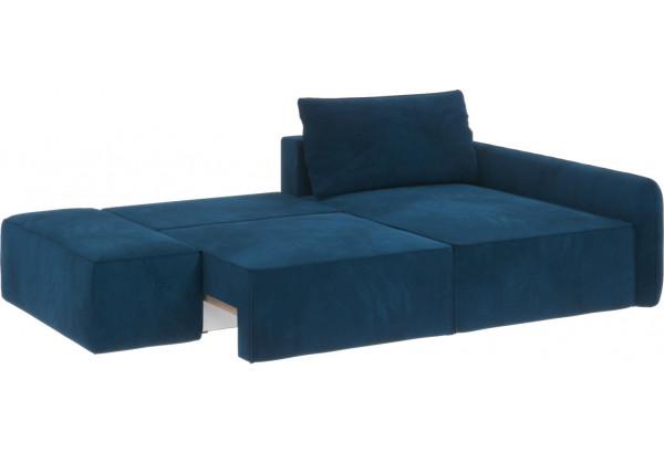 Диван тканевый угловой Портленд вариант №3 светло-синий (Микровелюр, правый) - фото 2