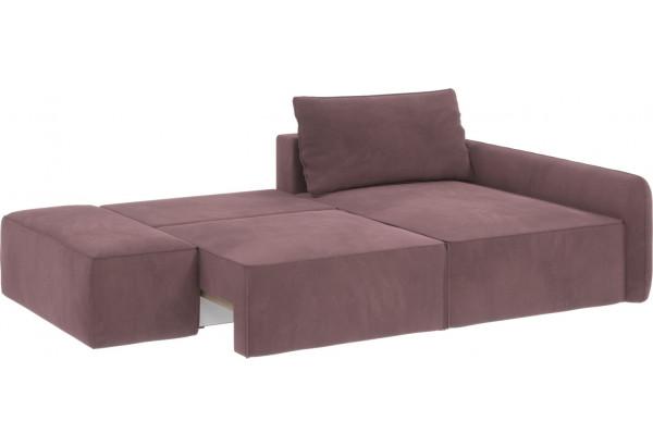 Диван тканевый угловой Портленд вариант №3 розово-серый (Велюр, правый) - фото 2