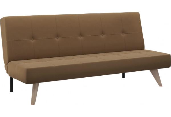 Диван тканевый прямой Касабланка коричневый (Рогожка) - фото 1