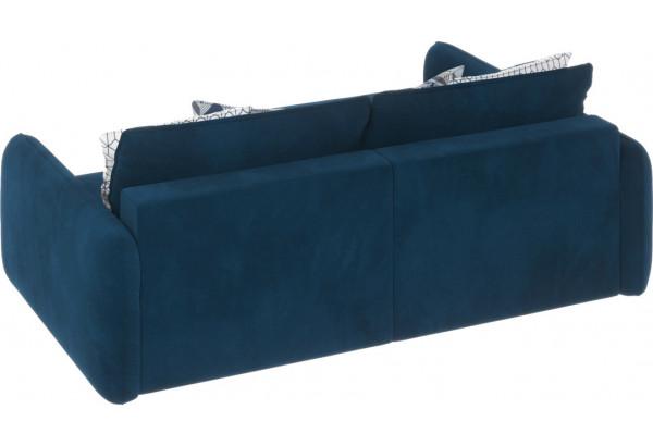 Диван тканевый угловой Портленд вариант №4 светло-синий (Микровелюр, левый) - фото 3