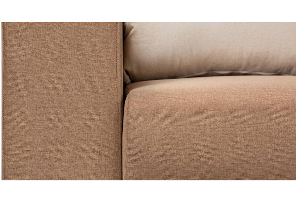 Диван тканевый прямой Медисон Вариант №1 коричневый (Рогожка) - фото 9