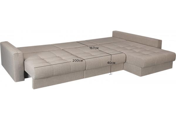 Модульный диван Брайтон вариант №3 бежевый (Рогожка) - фото 3