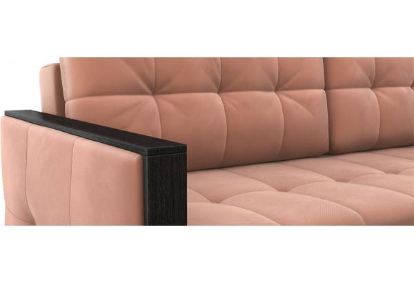 Диван тканевый прямой Валенсия-1 розовый (Велюр) - фото 5
