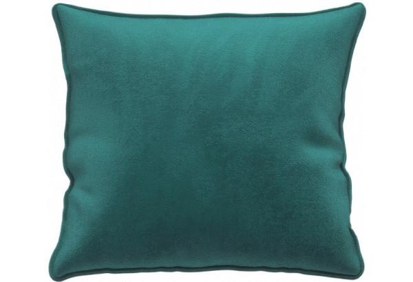 Декоративная подушка Портленд 41х41 см изумрудный (Микровелюр) - фото 1
