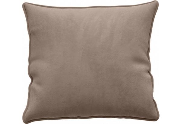 Декоративная подушка Портленд 41х41 см тёмно-бежевый (Микровелюр) - фото 1