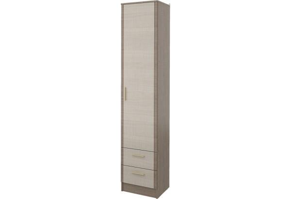 Шкаф распашной однодверный Санди с ящиками (крослайн карамель/латте) - фото 1