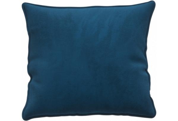 Декоративная подушка Портленд 41х41 см светло-синий (Микровелюр) - фото 1
