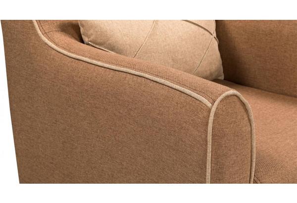 Кресло тканевое Флэтфорд коричневый/бежевый (Рогожка) - фото 6