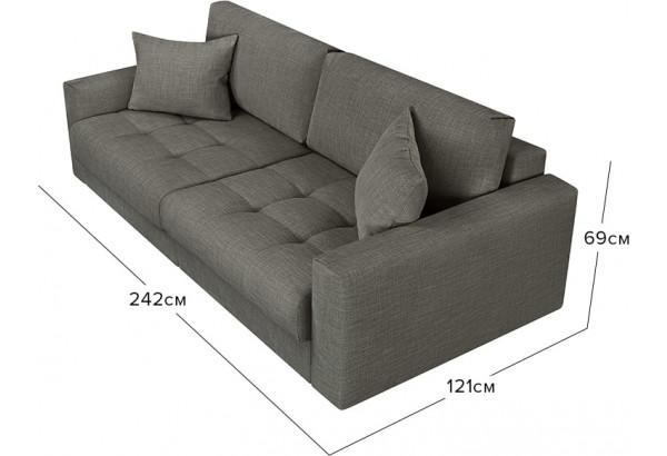 Модульный диван Брайтон вариант №1 серый (Рогожка) - фото 2