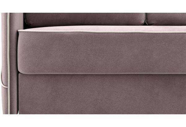 Диван тканевый угловой Слим светло-розовый (Велюр, правый) - фото 6