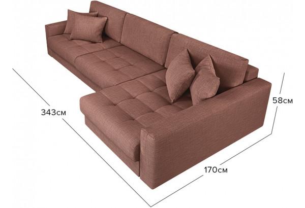 Модульный диван Брайтон вариант №3 розовый (Рогожка) - фото 2
